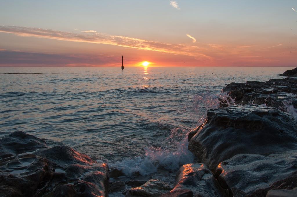 Sunset in Croatia, Sonnenuntergang in Kroatien