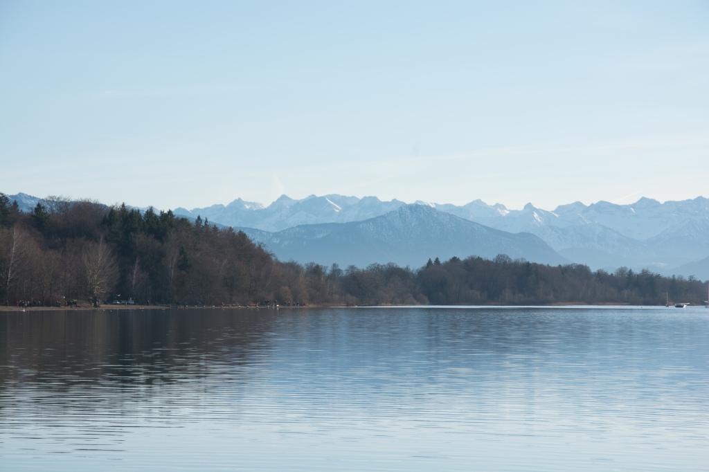 Starnberger See - Bergblick bei Föhn
